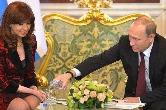 Putin y Cristina, una relación muy cercana de cuando ambos eran mandatarios.