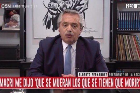 """Alberto Fernández: """"Macri, la cuarentena sirvió para que la Argentina se ponga en orden después del desastre que dejaste"""""""