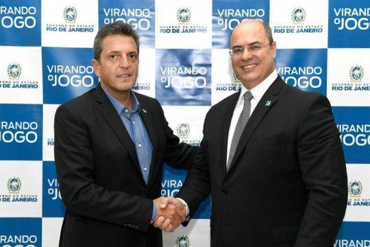 massa se reunio con el gobernador de rio de janeiro en el marco de una serie de reuniones bilaterales