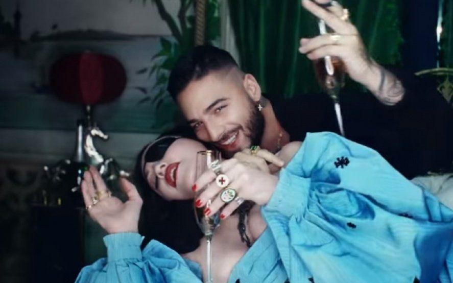 Champagne, besos y calentura: el nuevo video encendido entre Maluma y Madonna
