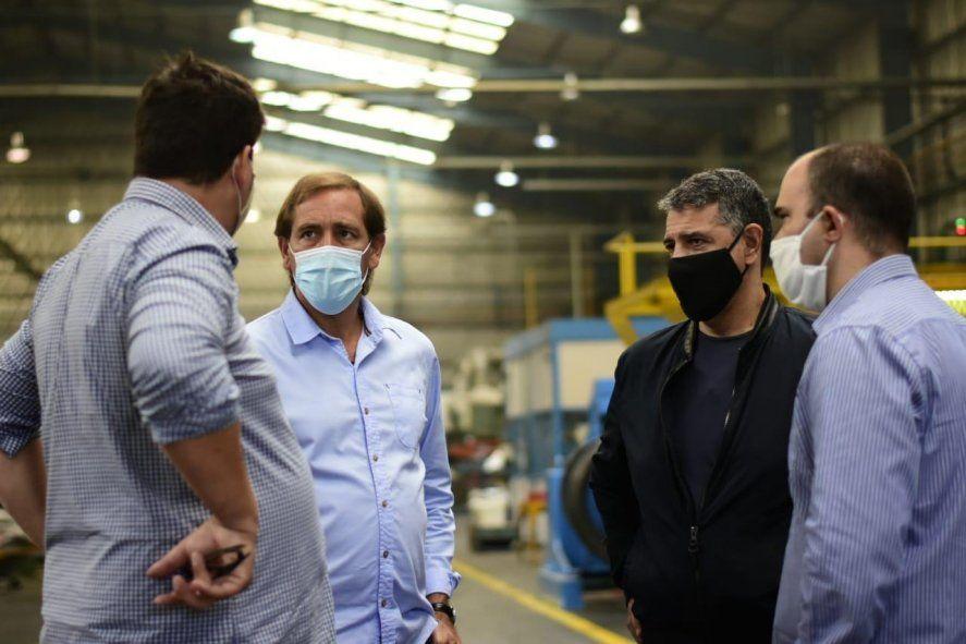 Julio Garro junto a Jorge Macri, en otra postal de la interna PRO