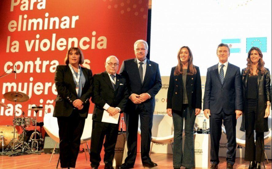 Vidal participó de una iniciativa contra el femicidio impulsada por la ONU y la Unión Europea