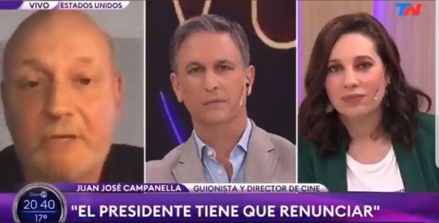 Juan José Campanella quiere a Cristina de presidenta ya