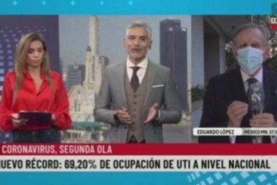 Los conductores de La Nación +, intentando hacerle decir al infectólogo Eduardo López, lo que ellos querían escuchar