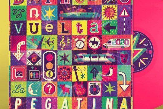 El nuevo disco de La Pegatina cuenta con un colorido diseño de tapa, obra del irlandés Steve Simpson