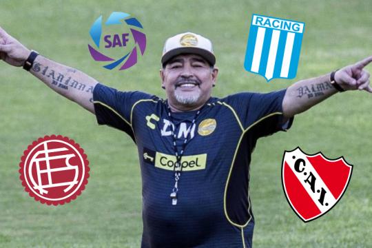 el futbol argentino le da la bienvenida a diego maradona
