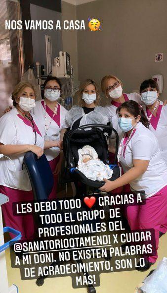 El bebé de Noelia Marzol tiene el alta y ya está en su casa