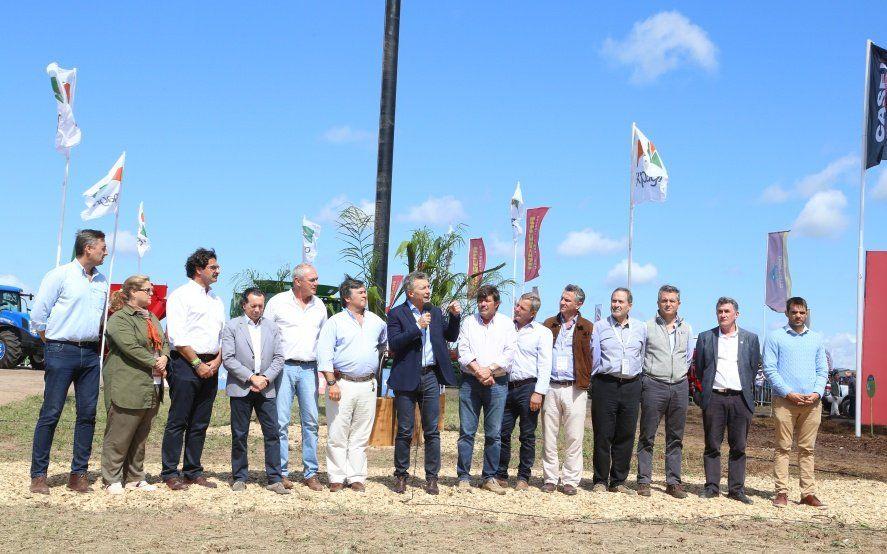 En Expoagro, Macri presentó líneas de créditos para la compra de maquinaria agrícola