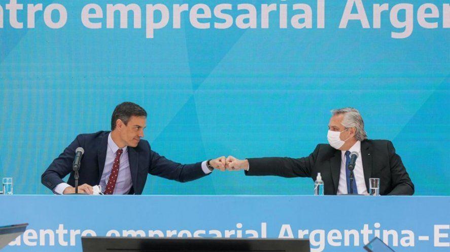 El presidente de España ratificó su respaldo a Argentina