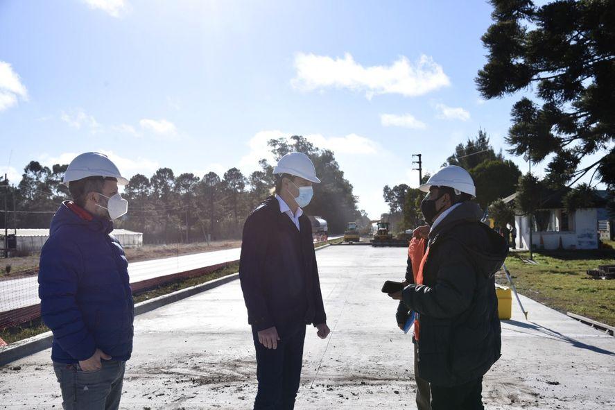 El intendente Julio Garro visitó la obra integral en su etapa final.