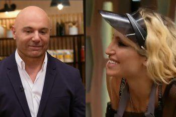 Vicky Xipolitakis mantuvo un ida y vuelta picante con el jurado de Masterchef Celebrity Germán Maritegui