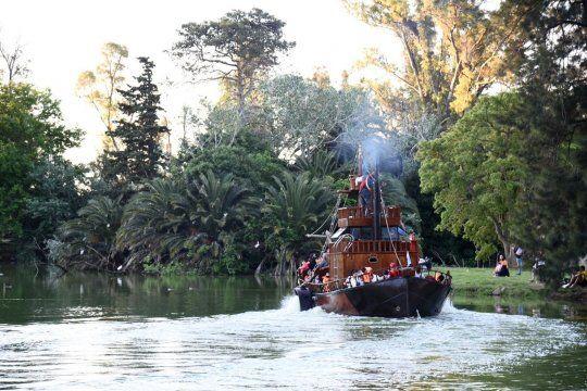 El barco de la República de los Niños volvió a funcionar.