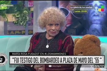 Maria Rosa Fugazot le contó a Jey Mammon el bombardeo de 1955