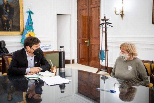 Rosa, la mamá de Miguel, se reunió con el gobernador bonaerense
