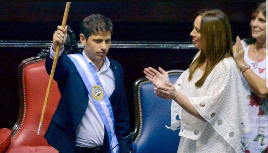 Axel Kicillof le ganó las elecciones de 2019 a María Eugenia Vidal y la destronó en la provincia de Buenos Aires.