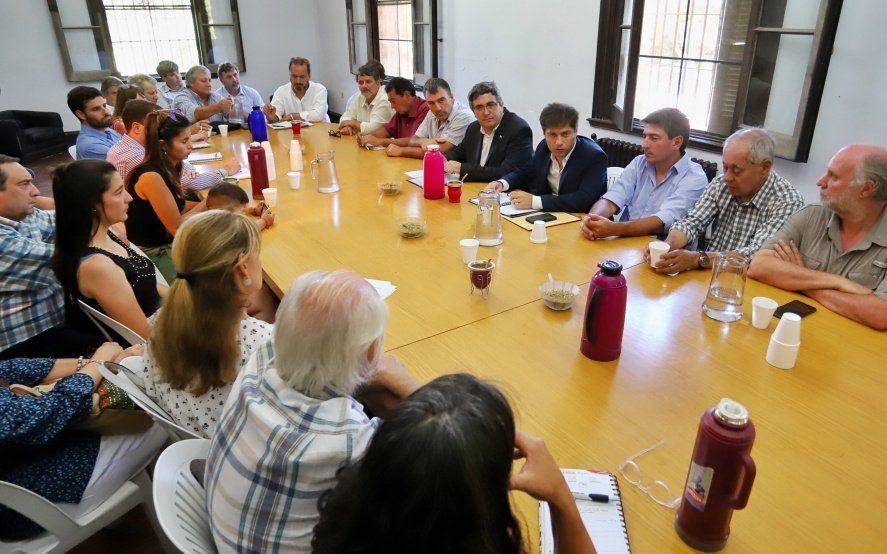 Kicillof se reunió con pequeños y medianos productores en medio de las negociaciones por la Ley Impositiva