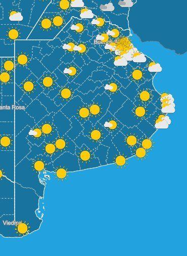 Es un martes de sol en la Provincia: se espera buen tiempo, sin lluvias.