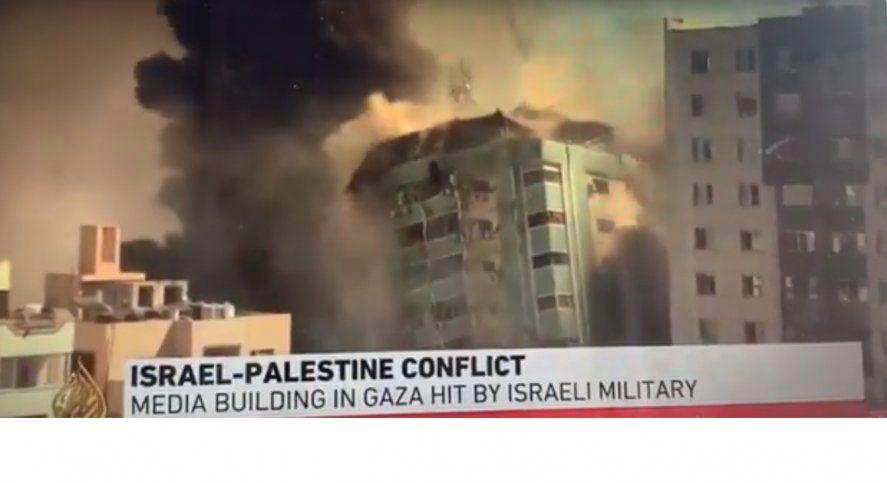 Israel derribó edificio que albergaba a prensa internacional