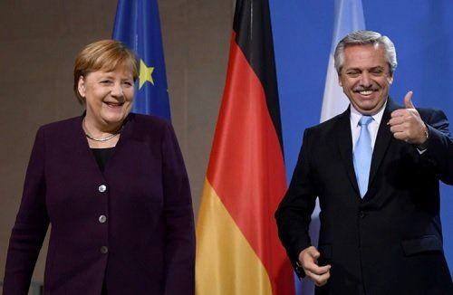 Ángela Merkel, canciller alemana, aliada del gobierno de Alberto Fernández