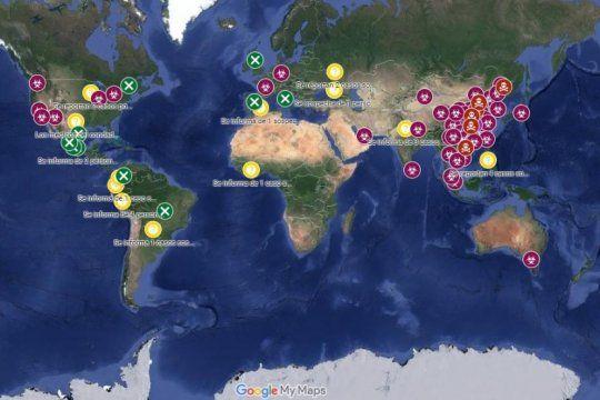 el mapa del coronavirus, en tiempo real: el minuto a minuto del brote que tiene en vilo al mundo
