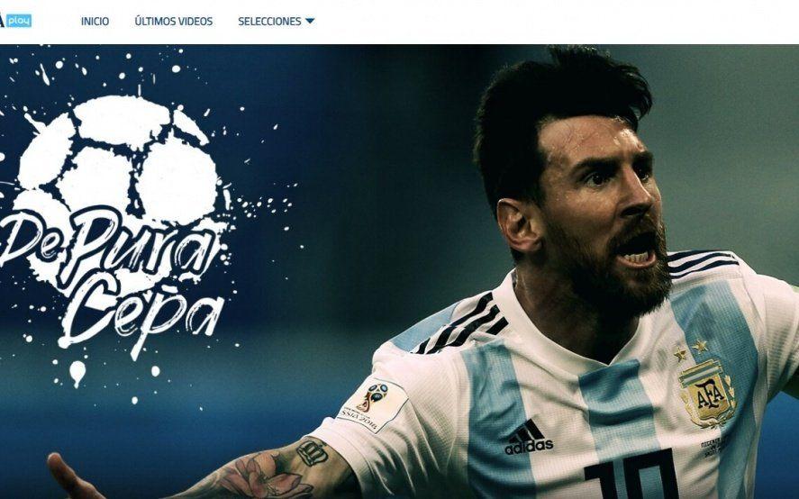 Goles de todas las Selecciones, entrevistas y material exclusivo de Messi y Maradona por 150 pesos en el novedoso Netflix de AFA