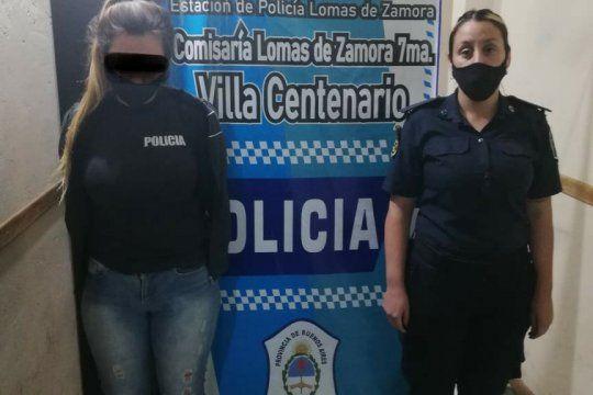 La mujer, una expolicía, fue detenida en la ruta 5 y calle Reconquista, en una celada
