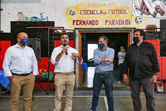 El diputado Nacional, Cristian Ritondo, recorrió las localidades de La Matanza.