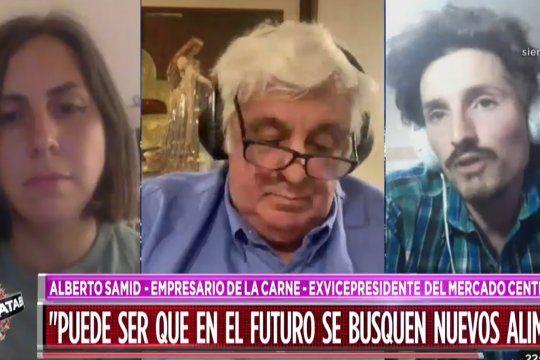Alberto Samid debatió con dos activistas tras la marcha por el Día Internacional del Veganismo