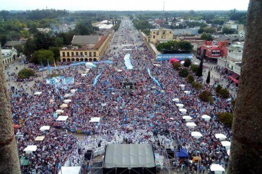 la conferencia episcopal llevo a cabo una masiva misa contra el aborto en lujan