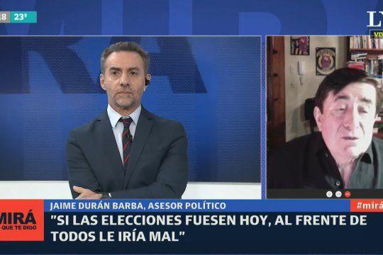 Durán Barba consideró que Si las elecciones fuesen hoy, al Frente de Todos le iría mal.