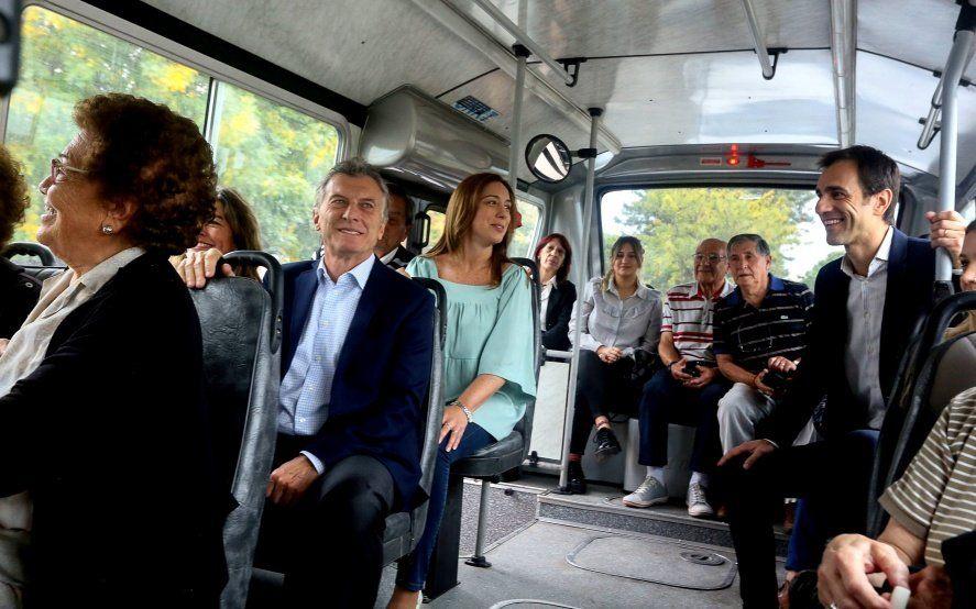 Nuevamente juntos: Vidal y Macri inauguraron el nuevo sistema de Colectivos de Junín
