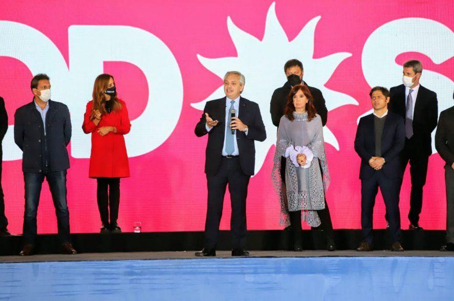 Alberto Fernández arengó a los dirigentes del Frente de Todos de cara a las elecciones PASO.