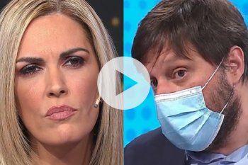 Frente a frente Leandro Santoro y Viviana Canosa protagonizaron un momento extraño de televisión por un largo silencio