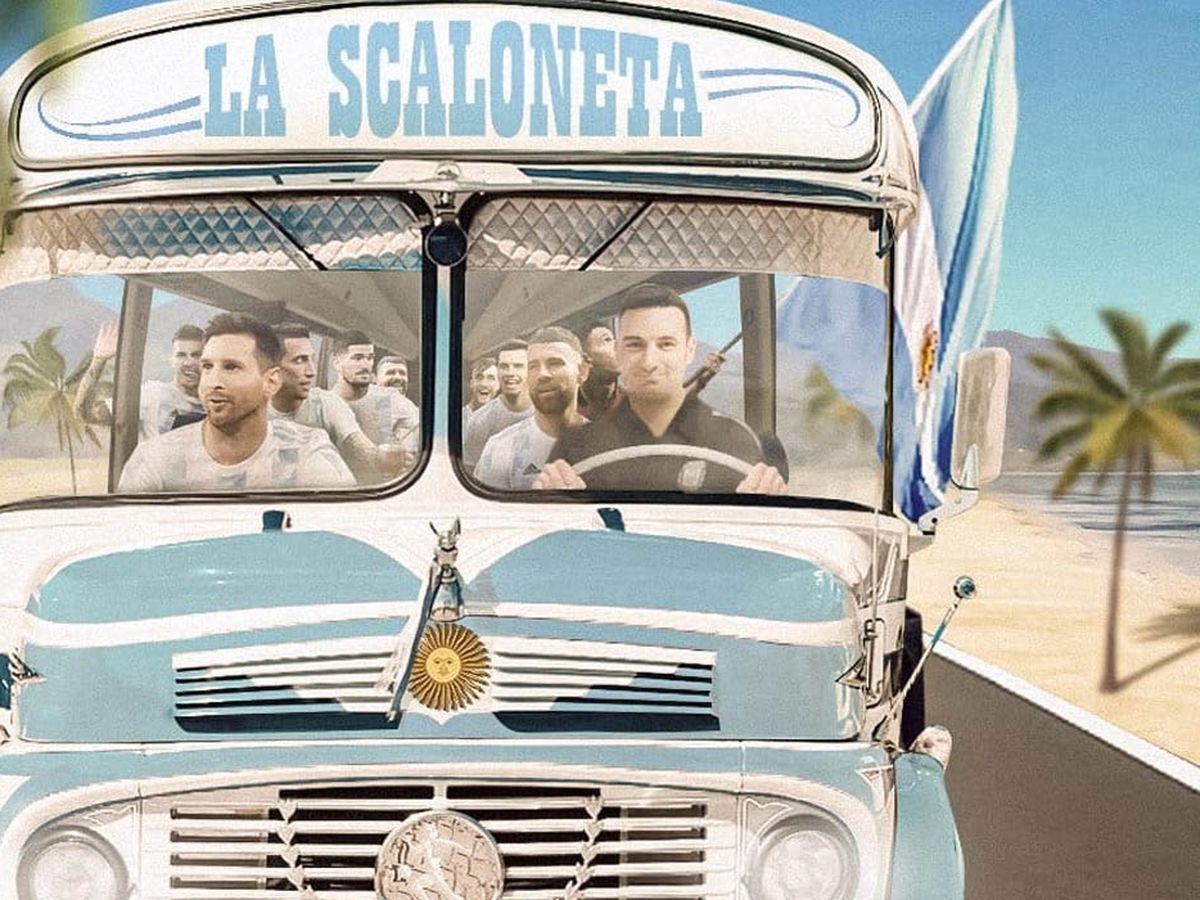 El ingenio popular al servicio de los de Scaloni: la Scaloneta se viralizó en las redes y es una marca registrada.