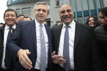 Alberto Fernández y su nuevo jefe de Gabinete, Juan Manzur. Asume hoy a las 16:00