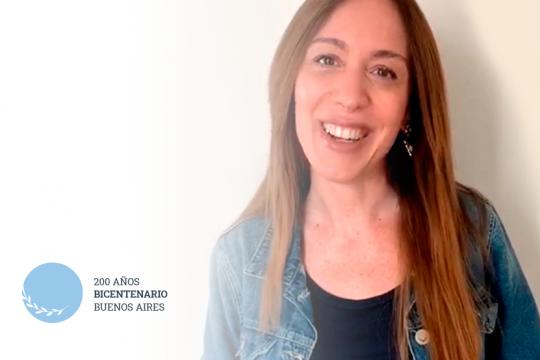 video: la exgobernadora vidal saludo a los bonaerenses para el bicentenario de la provincia
