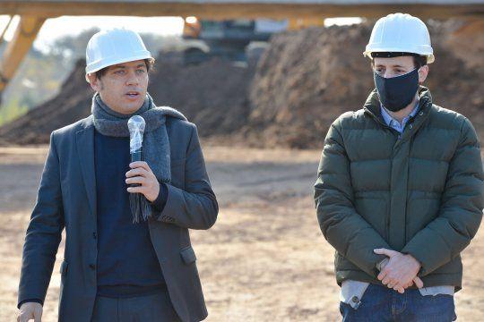 Kicillof y Simone durante la inaguración de obras públicas