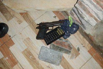 El arma secuestrada en el procedimiento