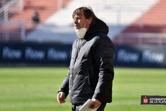 Ricardo Zielinski, entrenador de Estudiantes (Prensa EDLP)