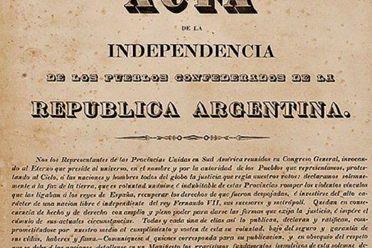 ¿donde esta el acta de la independencia que firmo el congreso de tucuman?