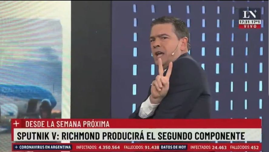 El periodista de La Nación +