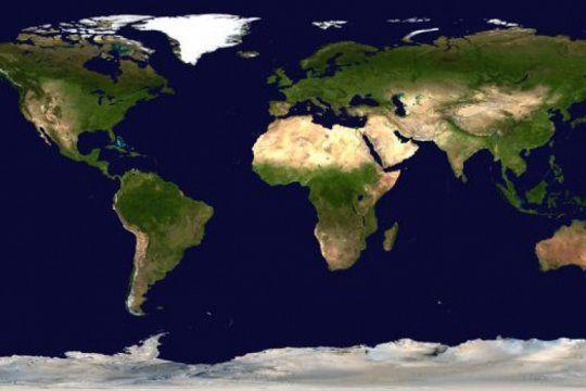 la imagen que muestra el tamano real de cada pais del mundo