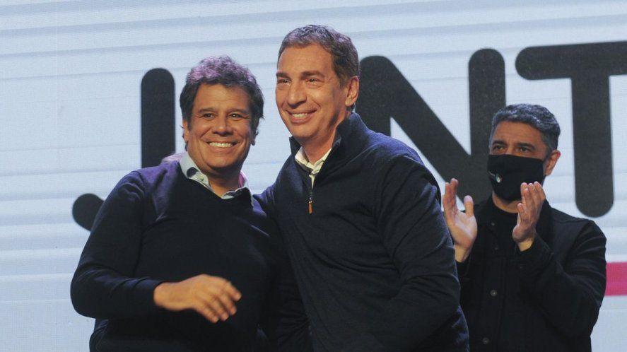 Diego Santilli y Facundo Manes compartieron bunker tras las elecciones PASO, pero la tensión se mantiene hasta definir las lista de Juntos para noviembre.