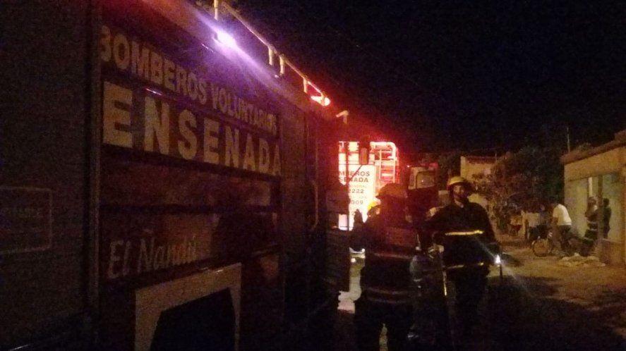 El incendio ocurrió en calle Andrade y José Ingenieros