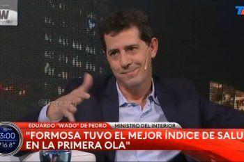 El gesto de más o menos del Ministro del Interior Wado de Pedro al responderle a Wiñazki cuando le dijo que el periodismo no miente