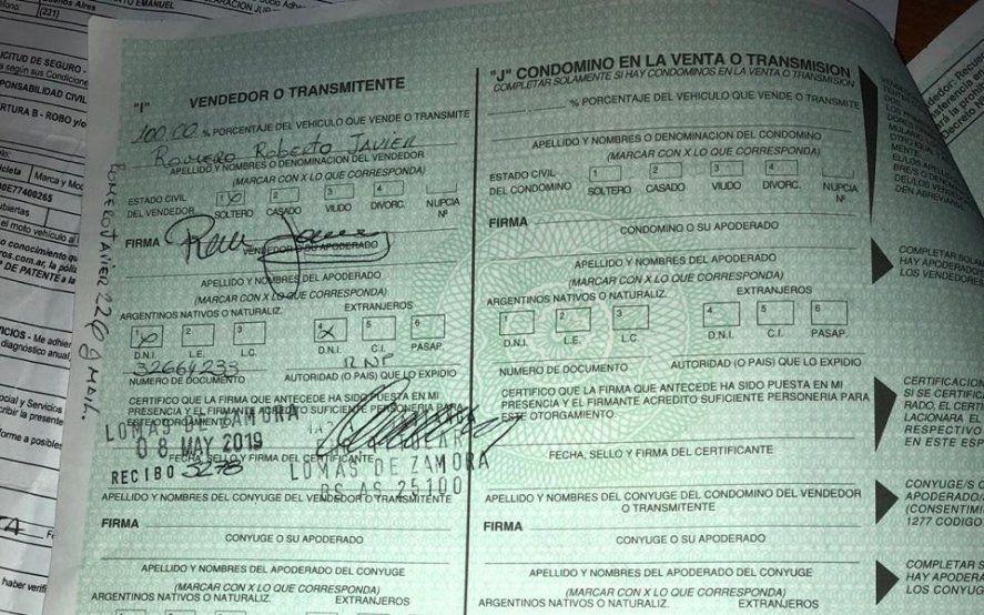La Plata: intentó retirar una moto secuestrada con un Formulario 08 falso y quedó detenido
