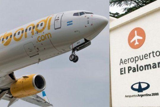 un avion de flybondi que iba hacia el palomar tuvo fallas antes de despegar y suspendieron varios vuelos