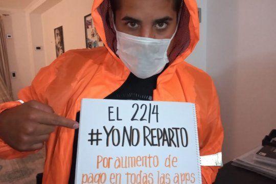 en plena pandemia, repartidores argentinos se suman al paro internacional por aumentos y elementos de seguridad