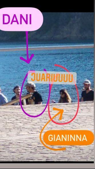 Daniel Osvaldo y Giannina Maradona, juntos en el sur: ¿Se confirma el romance?