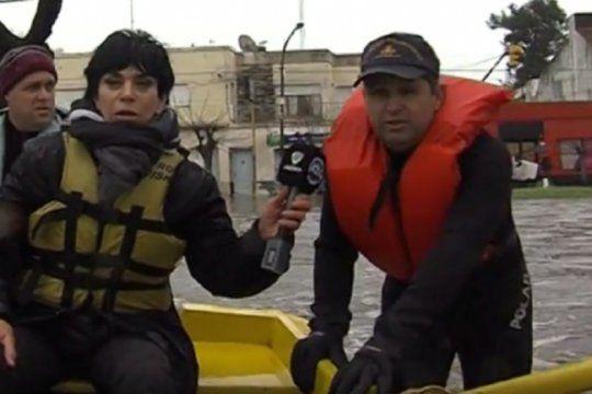 monica gutierrez hablo de las burlas por su foto en el bote cubriendo la inundacion de lujan en 2015